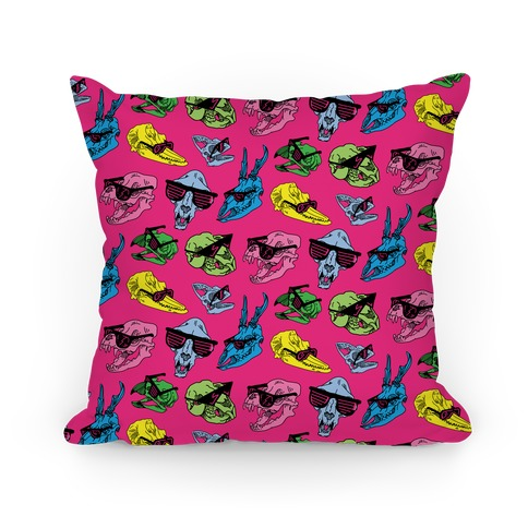 Radical Animal Skull Pattern Pillow