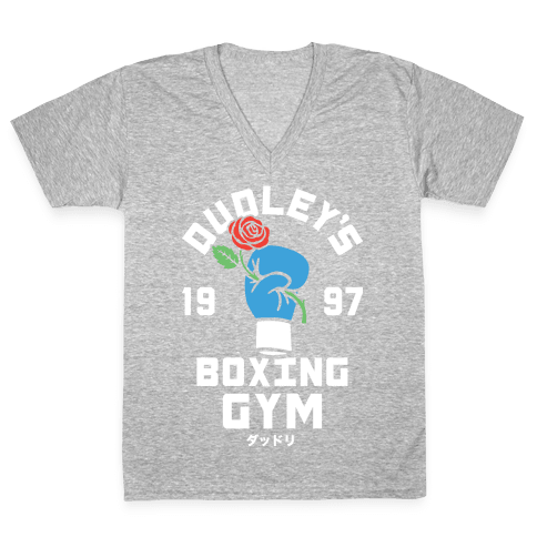 Dudley's Boxing Gym V-Neck Tee Shirt