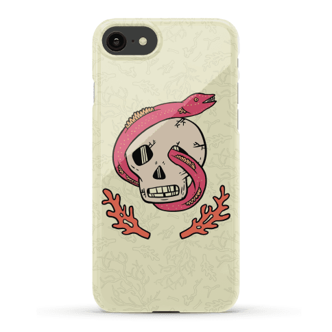 Skull and Coral Crossbones Phone Case