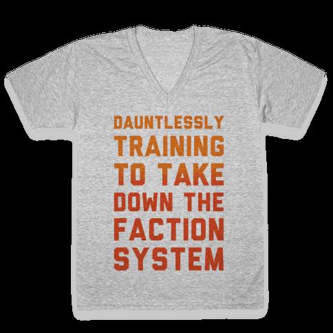 Dauntlessly Training V-Neck Tee Shirt