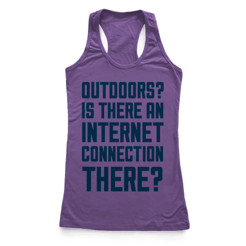 Outdoors? Racerback Tank Top