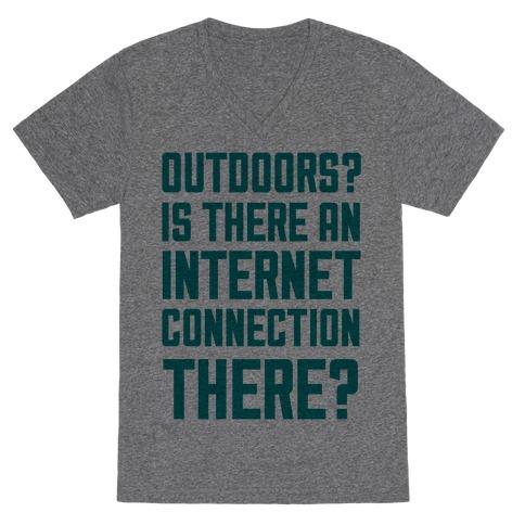 Outdoors? V-Neck Tee Shirt