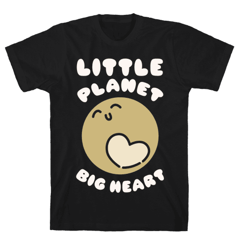 Little Planet Big Heart Mens T-Shirt