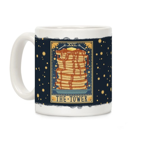 Tarot Card: The Tower (Of Pancakes) Coffee Mug