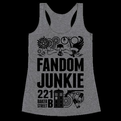 Fandom Junkie Racerback Tank Top