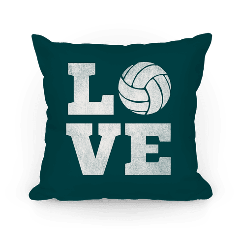 Love Volleyball Pillow Pillow