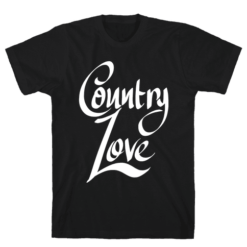 Country Love Mens T-Shirt
