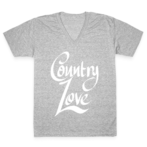 Country Love V-Neck Tee Shirt