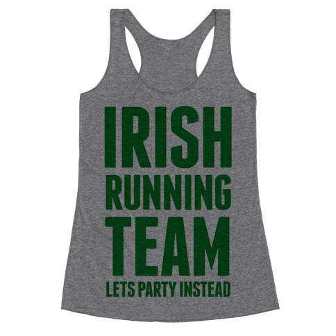 Irish Running Team Racerback Tank Top