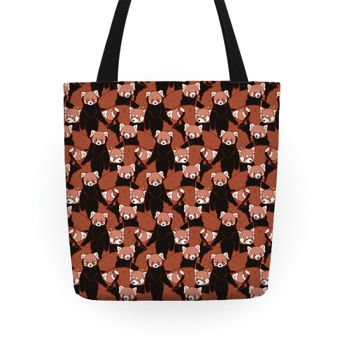 Cute Red Pandas Pattern Tote