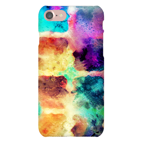 Watercolor Rainbow Texture Pattern
