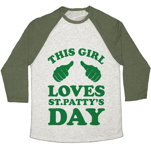 This Girl Loves St.Patty's Day Baseball Tee