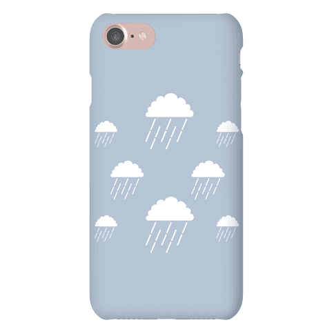 Minimalist Rain Clouds Phone Case