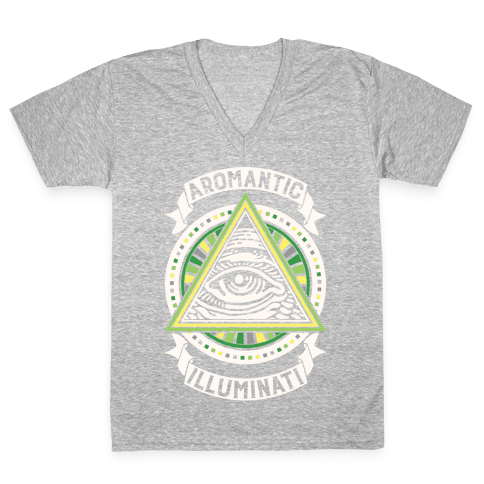 Aromantic Illuminati V-Neck Tee Shirt