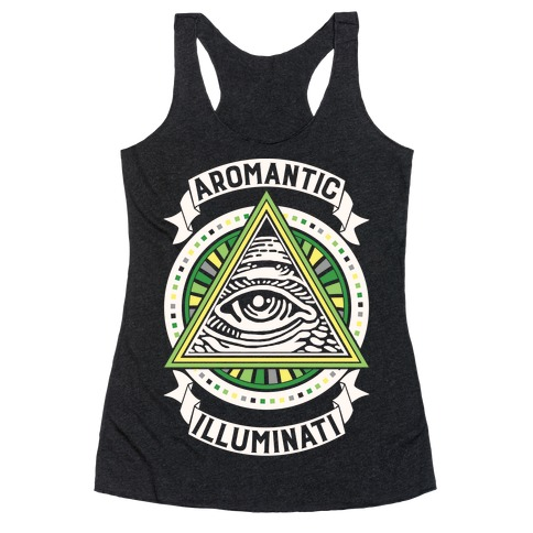 Aromantic Illuminati Racerback Tank Top