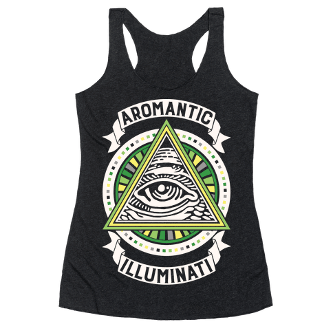 Aromantic Illuminati Racerback Tank Top