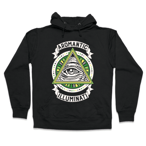 Aromantic Illuminati Hooded Sweatshirt