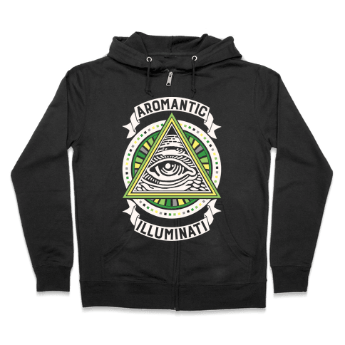 Aromantic Illuminati Zip Hoodie