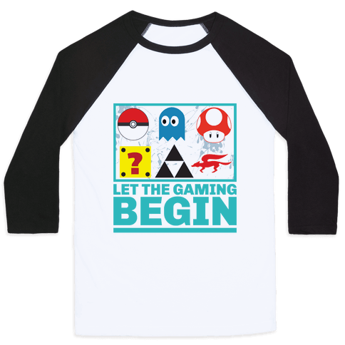 Start the Gaming Baseball Tee