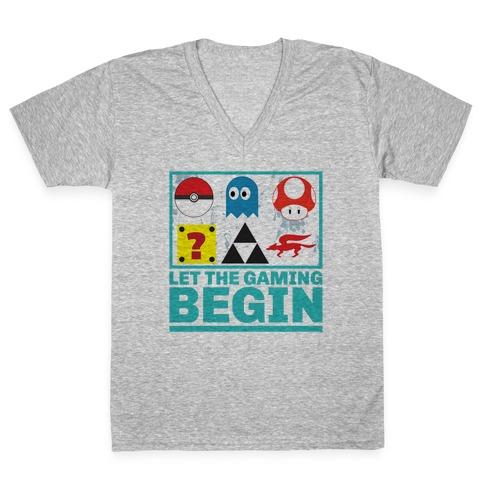 Start the Gaming V-Neck Tee Shirt