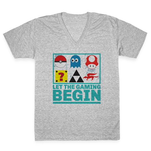 Start the Gaming V-Neck Tee Shirt