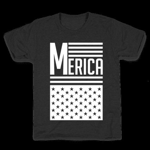 Merican Flag Kids T-Shirt