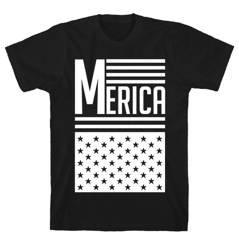 Merican Flag Mens T-Shirt