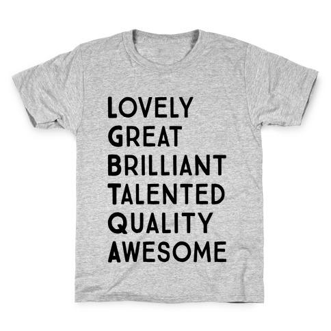 LGBTQA Meanings Kids T-Shirt