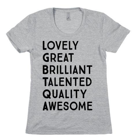 LGBTQA Meanings Womens T-Shirt