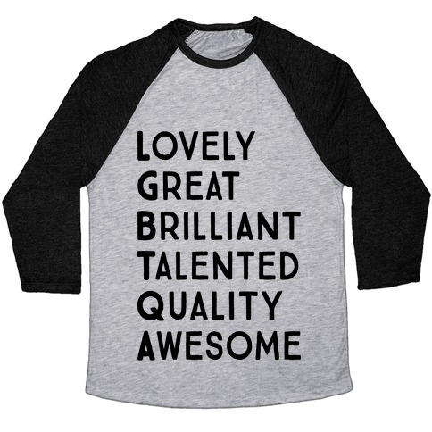 LGBTQA Meanings Baseball Tee
