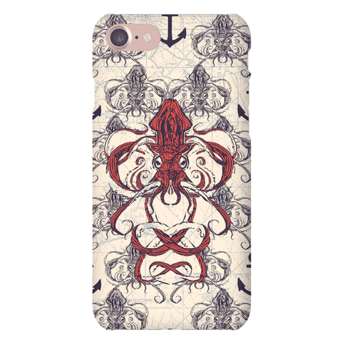 Kraken Tangle Pattern Phone Case