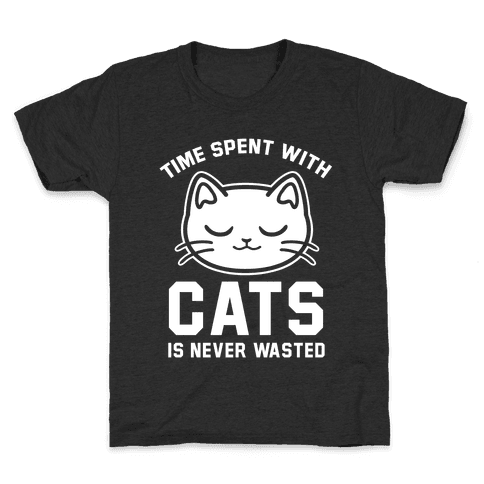 Time Spent With Cats Kids T-Shirt