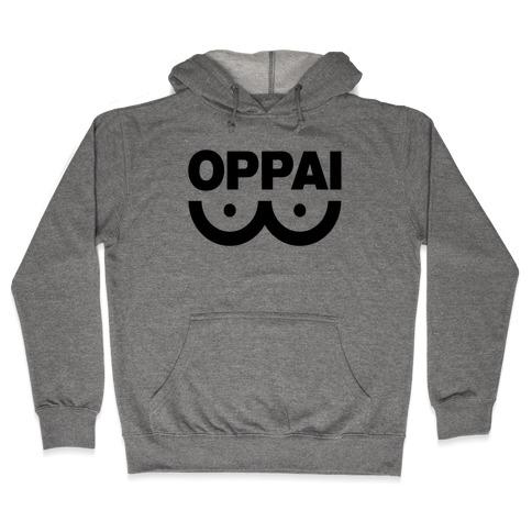 Oppai Shirt Hooded Sweatshirt