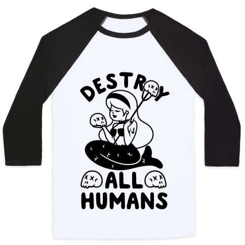 Destroy All Humans Baseball Tee