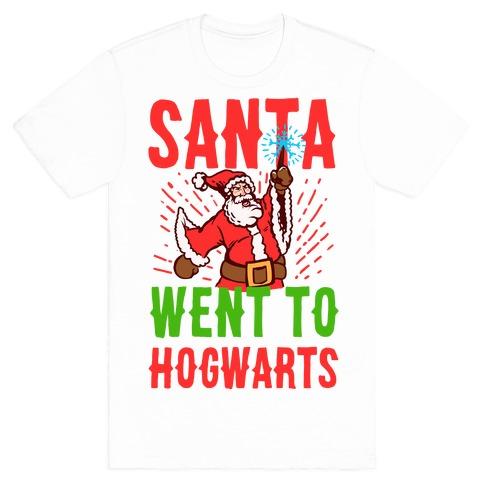 Santa Went to Hogwarts Mens T-Shirt