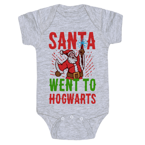 Santa Went to Hogwarts Baby Onesy
