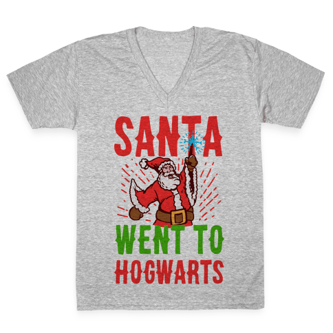 Santa Went to Hogwarts V-Neck Tee Shirt