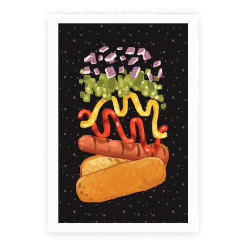 Anatomy Of A Hot Dog Poster