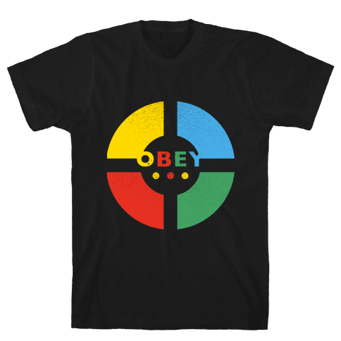 Simon Says Obey (Vintage) Mens T-Shirt