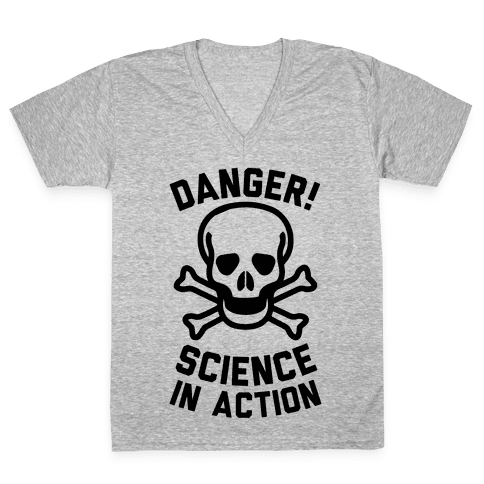 Danger Science In Action V-Neck Tee Shirt