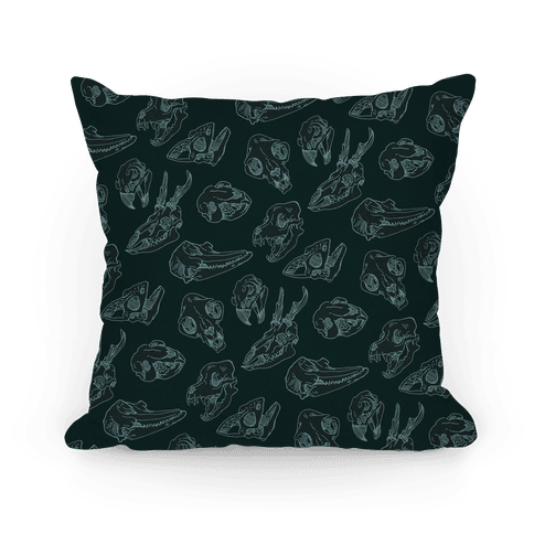 Animal Skull Pattern Pillow