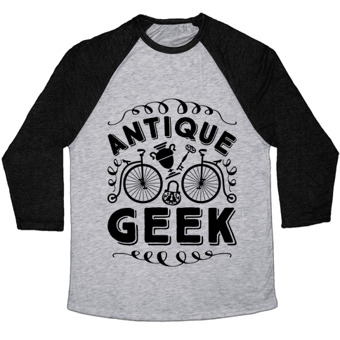 Antique Geek Baseball Tee