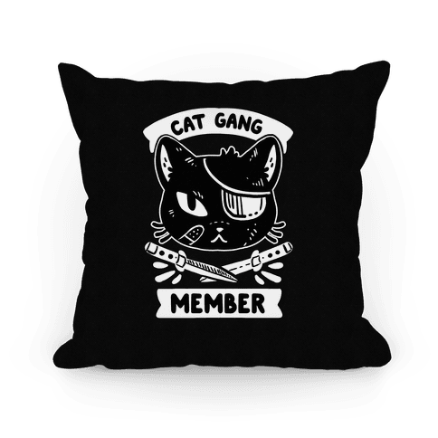 Cat Gang Member Pillow