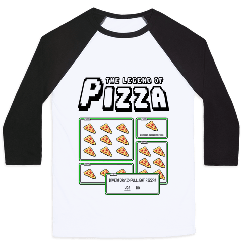 Pixel Pizza Inventory Baseball Tee