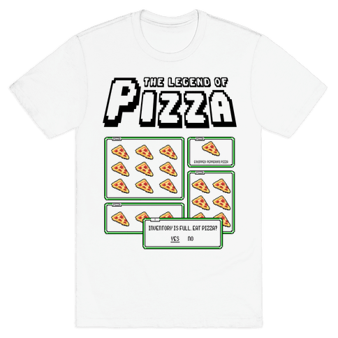 Pixel Pizza Inventory Mens T-Shirt