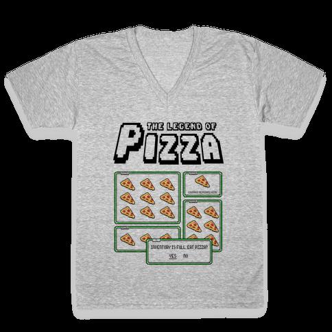 Pixel Pizza Inventory V-Neck Tee Shirt