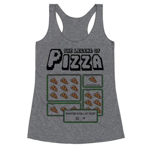 Pixel Pizza Inventory Racerback Tank Top