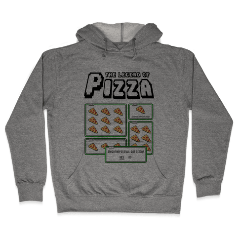 Pixel Pizza Inventory Hooded Sweatshirt