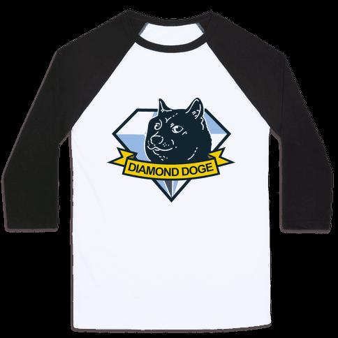Diamond Doge Baseball Tee
