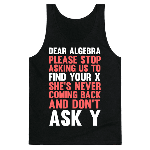 Dear Algebra Tank Top